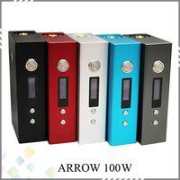 arrow button - Newest Arrow W Box Mod Big button LCD Display Variable Wattage mod fit RDA DIY Atomizer W Mod Vaporizer E Cigarette DHL Free