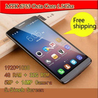 Cheap Original 5.5 inch Smartphone P8000 MTK6753 Mobile Phone Octa Core 4G RAM Android 5.0 GPS Wifi Cell Phone 1920x1080P celular Free Shipping