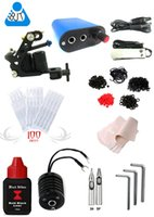 1 Gun starter beginner - 7148 K01 Pro Tattoo Machine Equipment Set Starter Kit Guns combine power supplies