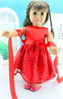 18 doll - hot new style Popular quot American girl doll clothes dress Christmas hat Christmas dress the dollb b45
