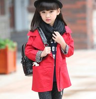 Wholesale Short Wind Coat - Childrens Outerwear 2015 New Fashion Autumn Korean Style Girls Lapel Long Sleeve Short Pure Cotton Wind Coats Hot Sale Fit 4-10Age Kids YY11