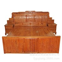 Cheap Ancient trade wholesale high-grade mahogany bedroom home classical Chinese Furniture Double wooden bed