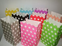 Cheap Wholesale-NEW RED PINK Polka Dot kraft paper gift bag, Festival gift bags, Paper bag with handles, wholesale price (AAA-3389)