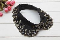 beaded embroidery jewelry - Luxury Rhienstone Jewelry Vintage Embroidery Detachable Collar Beads Collar Necklace FC046