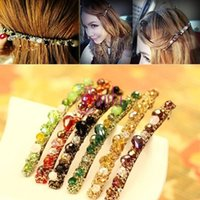 Wholesale New Fashion Korean Colorful Full Crystal Rhinestones Hair Clip Hairpin Accessories Jewelry DTZE