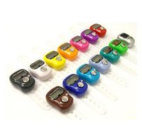 Wholesale Mini muslim Ring tally counter electronic hand tally counter finger counter clicker digtal counter DHL JF B3