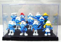 Wholesale 6 CM the Smurf Smurfs PVC Action Figures styles the Smurf Anime Action Figures Toy Christmas Gifts for kids