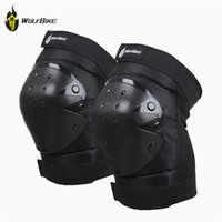pads motorcycle - Motorcycle Knee Protector Bicycle Cycling Bike Racing Tactical Skate Protective Knee Pads Guard High Quality WOLFBIKE