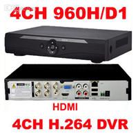 al por mayor red dvr d1-Al por mayor-4 canales H.264 red completa DVR D1 960H CCTV en tiempo real grabadora HDMI 1080P Seguridad DVR de 4 canales para móvil Ver en línea el envío libre