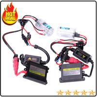 Wholesale 1 Set DC V w HID Xenon kits Single beam super SLIM hid xenon kit W DC H1 H3 H7 H8 H9 H10 H11 H13