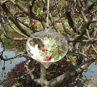 Wholesale 6pcs set onion glass terrariums quot air plant garden terrarium hanging planter pot for garden decor home decor