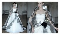 atelier aimee wedding dress - Black And White Atelier Aimee Wedding Dresses Flower Strapless Lace Bodice Tulle Chapel Train Bridal Dresses Gowns Ball Custom