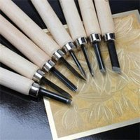 Wholesale 2014 New Wood Lathe Handle Carpenters Carving Mini Chisels Kit DIY Handy Tools Set