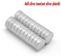 Beijia Silver Tone Super Strong néodyme Disc 4mm(1/8quot;) vendues par paquet de 50