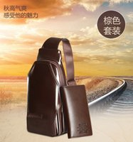 Wholesale ZEFER man chest bag leather men s bags leather purse worn single shoulder bag business and leisure travelers Female sports backpack bag