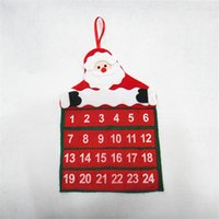Wholesale Christmas Decorations Christmas Velvet Pyrographic Calendar Santa Claus Christmas Day Calendar S203