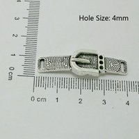 antique shoe buckles - Charms Antique Silver Plated Shoe buckle Connector Zinc Alloy Charms Fit Jewelry Findings DH BJI828