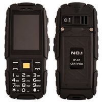 bank core - NO A9 IP67 Waterproof Rugged Proof inch Colorful Screen mAh Large Capacity Battery Power Bank M Super Flashlight FM Cell Phone