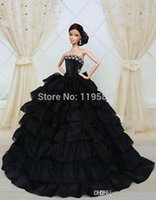 baby doll formal dresses - High Quality Children Popular Liked Beauty HandmadeBlack Cake Drees Doll s Formal Dress Fanshion Skirt For Barbie Doll