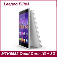 Wholesale Leagoo Elite quot HD Quad Core G LTE FDD MTK6290 MTK6582 Elite3 Smart phone Android GB ROM Cell Phone MP Camera Mobile phones