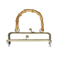 bamboo handle purse - Metal Frame Kiss Clasp Rectangle For Purse Bag Antique Bronze Bamboo Handle Open Size x20 cm x18 cm Pc new