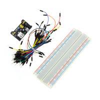 Wholesale Professional DIY Kit Solderless Breadboard Connecting Jumper Wire Bundle Power Supply Module for Arduino order lt no track