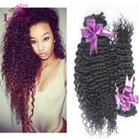 auburn delivery - Luffy Hair Weaving European Kinky Curly Bundles Unprocessed Jerry Curl Human Virgin Hair Bulk Cheap Weave Fast Delivery