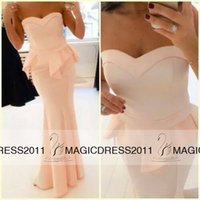 peach bridesmaid dresses - 2015 Bridesmaid Dress Party Evening Elegant Vestidos De Fiesta Backless Sweetheart Peach Ruffles Maxi Long Satin Prom Dresses Mermaid BO5231