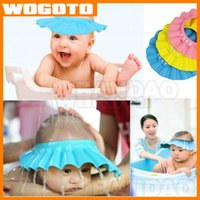 Wholesale TOP Quality Baby Bath Shower Cap Hat Shampoo Wash Hair Shield Kids shampoo cap Fashion Adjustable