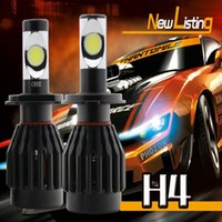 hid light - 1Set H4 HB2 W CREE COB LM LED Headlight Kit Hi low Beam Xenon Replace HID H13 Available