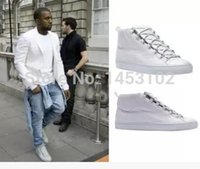 Cheap lover Shoes BL Fashion Brand Trainers Rouge Braise Men's High -top Casual Shoes Lace-up Fw Yeezy Kanye West Fashion Shoes 39-46