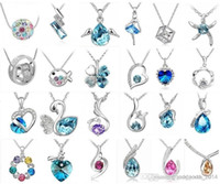 Pendant Necklaces american crystal - Fashion jewelry High quality Austrian crystal CZ Diamonds pendant necklace women jewelry Optional style