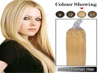 Wholesale Brazilian remy human hair inch0 g S Micro rings loop Hair Extensions sliky straight