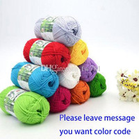 Wholesale new Bamboo Cotton Knitting Milk Yarn Fingering Baby Crochet Yarn For Knitting Cotton Yarn To Knit Hand Knitting