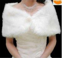Wholesale New warm ivory Faux Fur Wrap Shrug Bolero Coat Bridal Shawl One Size lw