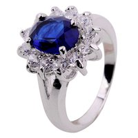 10k gold ring - Sz6 Jewelelry mm Sapphire lady s K White Gold Filled Ring Gift pc