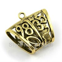 arabic tube - 20PCS DIY Charm Jewelry Scarf Findings Alloy Antique Brass Slide Holding Tube Arabic Numbers Design AC0149B
