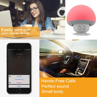 audio com - 2015 New Mushroom Mini Wireless Bluetooth Speaker Silicone Sucker Hands Free Subwoofers Loudspeaker for Smart Phone Android Devices PC Com