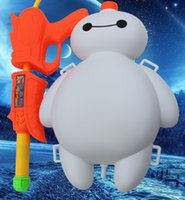 backpack types - Children Toys New Hot Summer Cartoon Big Hero Baymax Backpack Tank High Pressure Pull Type Beach Swimming Toy Gun Water Toys MC