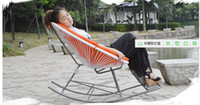 Wholesale Cane rocking chair The balcony at the noon hour idle easy chairs Fashion modern creative cradle chair The chair