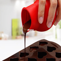 Wholesale Practical Silicone form Chocolate Melting Pot Mould Butter Sauce Baking Pouring for kitchen cooking tools accessories
