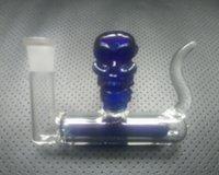 affordable modern design - Glass Bong Skeleton Model of Water Pipes Modern Design Practical Water Smoking Hookah Shisha Percolator Affordable Price Cheap Blue Color