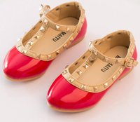 baby formal shoes - Fashion Children Rivet Leather Shoes Kids Dance Princess Shoes Baby Spring Autumn Party Shoes Formal Pageant Christening Shoes ZJ S01