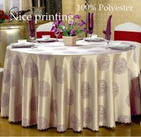 Wholesale Round quot Best quality European table covers Polyester table cloth nice printing tablecloth for wedding christmas hotel items