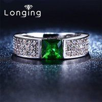 beryl jewelry - S925 Sterling silver Green Beryl inlaid luxury Jewelry Wedding Rings For Women Bijoux Accessories CZ diamond high quality LSR210