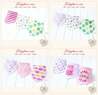 Wholesale 2015 New Arrival Cotton Baby Bandages Triangle Bibs Children Snap Bibs Infant Bibs With