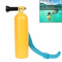camera hand grip - Flat Bottomed Solid Color Bobber Go pro Accessories Bobber Floaty Floating Hand Grip Buoyancy rods for Xiaomi Yi Sport Camera