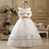 wd-40 - 2015 Crystal Ball Gown High neck Floor Length back Wedding Dress WD