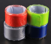 Wholesale 4 colors Bike Cylcing Leg Pants Band Strap Reflective Belt without any printing Great Outdoor safety tool