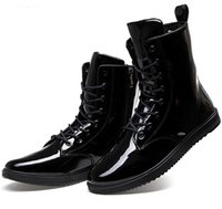 Wholesale New Men s Boots British Shine PU Leather Boots colors Cowboy boots Martin boots snow boots motorcycle boots NB29